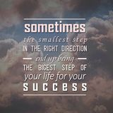 Quotes motivational and inspiring poster royalty free stock image