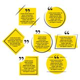 Quotes shapes collection template design royalty free illustration