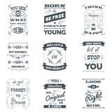 Quotes Typography Set Stock Photos