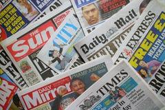 Quotidiani britannici Fotografie Stock Libere da Diritti