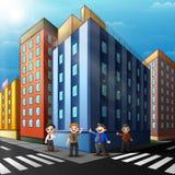 Quotidien courant de travail de personnes en ville illustration stock