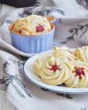 Qurabiya, домодельные печенья shortbread печенья с вареньем Kurabye Стоковое Фото