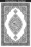 Quran-Abdeckungs-Schwarzes u. Weiß stock abbildung