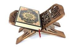 Quran auf einem Stand Lizenzfreies Stockbild