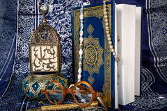Quran. The Quran is the bible for Muslims stock photography