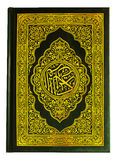 Quran book isolated. The quran book on the white background royalty free stock photography