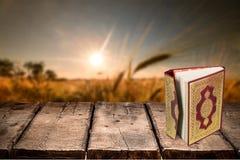 Quran. Book ramadan muslim islam relief stock photo