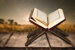 Quran. Book ramadan muslim isolated islam relief stock image