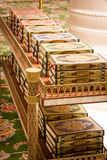 Quran books in Grand Sheikh Zayed mosque Royalty Free Stock Photos