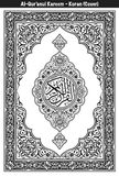 Quran Cover Black & White Royalty Free Stock Images