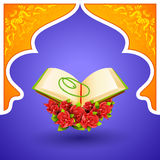 Quran on Eid Mubarak background Stock Photography