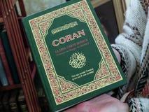 Quran - el texto sagrado del Islam fotos de archivo