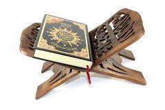 Quran en un soporte Imagen de archivo libre de regalías