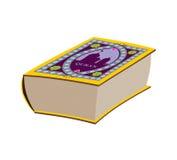 Quran Groot oud boek Boek met Arabisch patroon royalty-vrije illustratie