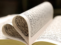 Quran - Holly book of Islam (close up) Stock Images