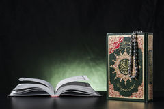 Quran Holy Book Closed and Open Royalty Free Stock Photo