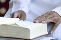 Quran - the holy book of islam open royalty free stock photos