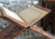 Quran and lectern Royalty Free Stock Photography
