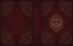 QURAN MAJID COVER DESIGN VECTOR Royalty Free Stock Image