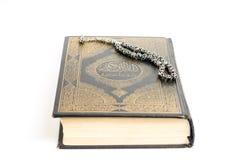 Quran mit tasbeeh Stockbild