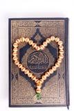 Quran mit tasbeeh Lizenzfreies Stockfoto