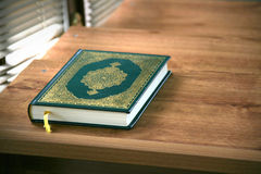 Quran in the mosque. Quran - holy book of Muslims Royalty Free Stock Photos