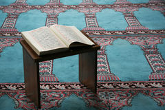 Quran in the mosque Stock Images