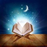 Quran op een houten boektribune Stock Afbeeldingen