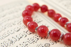 Quran and prayer beads Stock Image