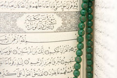 Quran and rosary beads Royalty Free Stock Images