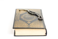 Quran with tasbeeh Stock Image
