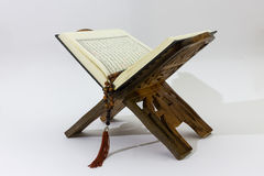 Quran on wood stand Stock Images
