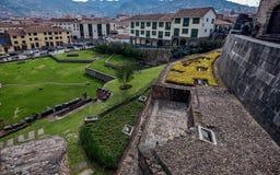Qurikancha z klasztorem Santo Domingo above w Cusco, Peru Fotografia Stock