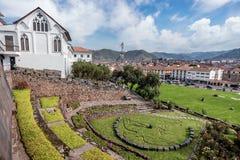 Qurikancha z klasztorem Santo Domingo above w Cusco, Peru Zdjęcie Royalty Free