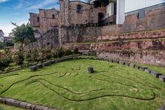 Qurikancha z klasztorem Santo Domingo above w Cusco, Peru Zdjęcia Royalty Free