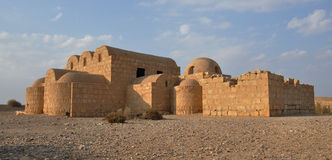 Quseir Amra desert castle Royalty Free Stock Photo