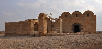 Quseir Amra desert castle II. Quseir Amra is the best-known of the desert castles located in present-day eastern Jordan. It was built early in the 8th century Royalty Free Stock Photography