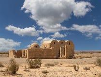 Quseir (Qasr) Amra在阿曼,约旦附近的沙漠城堡 库存图片