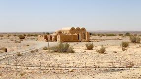 Quseir (Qasr) Amra ökenslott nära Amman, Jordanien Royaltyfri Bild