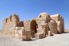 Quseir (Qasr) Amra desert castle near Amman, Jordan Royalty Free Stock Images
