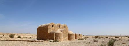 Quseir (Qasr) Amra pustynia kasztel blisko Amman, Jordania Obrazy Stock