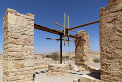 Quseir (Qasr) Amra pustynia kasztel blisko Amman, Jordania Zdjęcie Stock