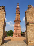 Qutab Minar, Delhi, India Royalty-vrije Stock Foto's
