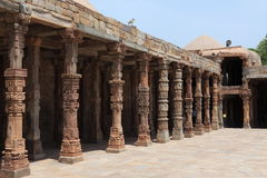 Qutab Minar i New Dehli Indien fotografering för bildbyråer