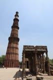 Qutab Minar na Índia de New Dehli imagens de stock royalty free