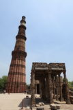Qutab Minar in New Dehli India Royalty Free Stock Images