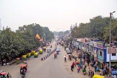 Qutab road in New Delhi Stock Image