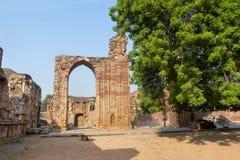 Qutb复合体位于市德里 印度 它是联合国科教文组织世界遗产 免版税库存图片