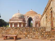 Qutb kompleks lokalizuje w mieście Delhi indu Ja jest UNESCO światowego dziedzictwa miejscem zdjęcia stock