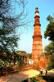 Qutb Minar στο Δελχί, Ινδία Στοκ Εικόνες